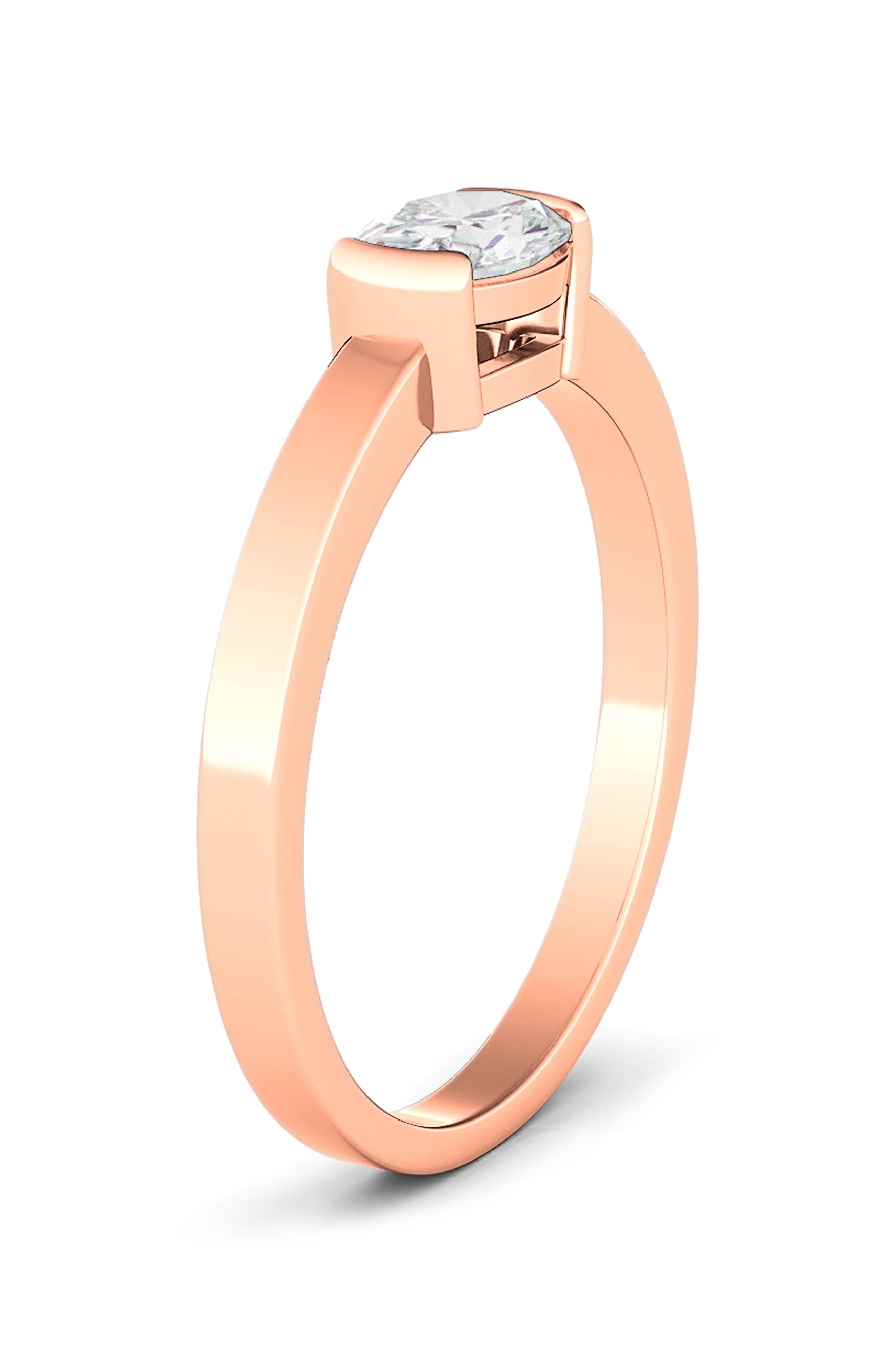 Oval Lab Grown Diamond Band Ring