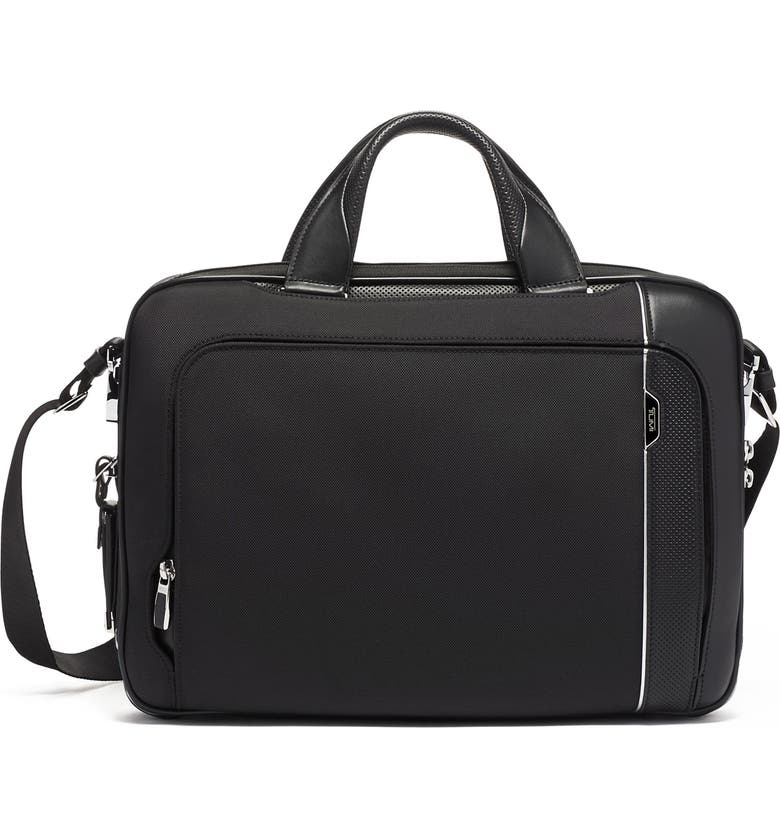 TUMI Arrivé Sadler Briefcase, Main, color, BLACK