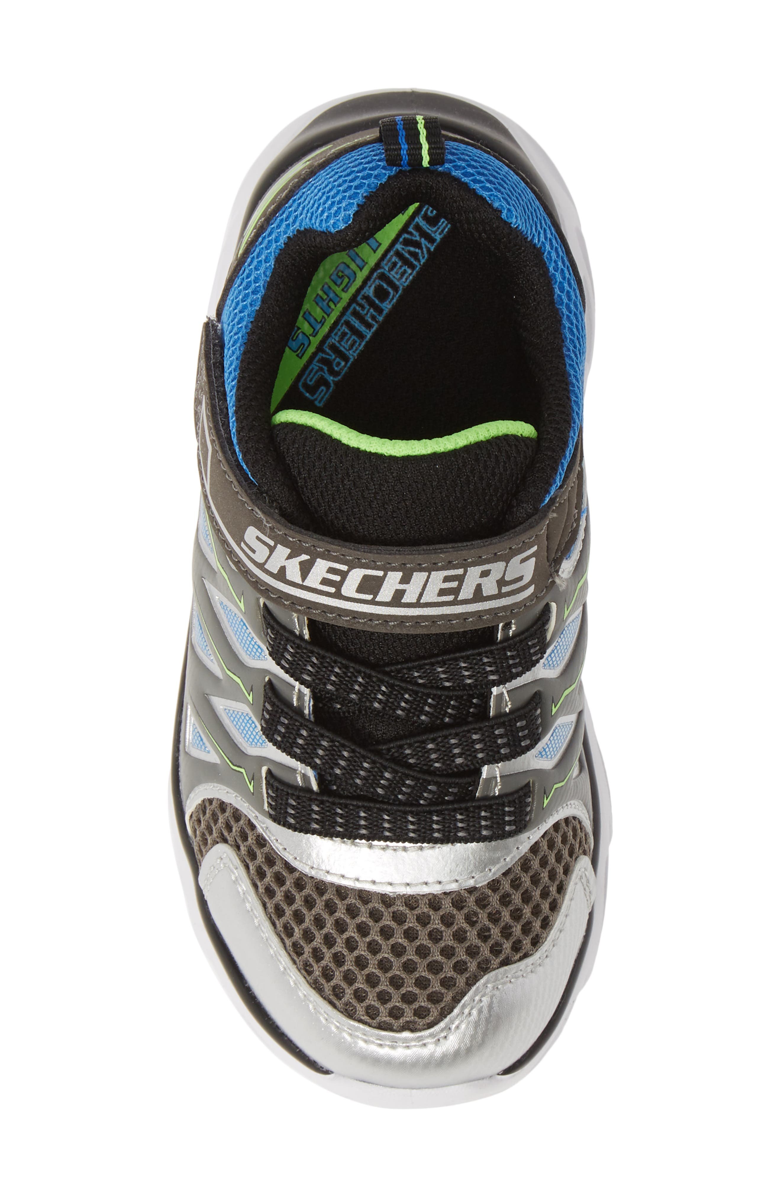 ,                             Hypno-Flash 3.0 Light-Up Sneakers,                             Alternate thumbnail 5, color,                             SILVER/ BLUE