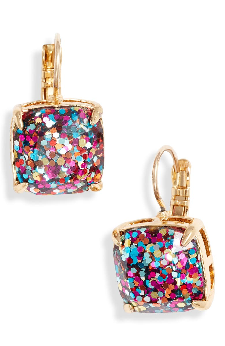 KATE SPADE NEW YORK small square lever back earrings, Main, color, 710