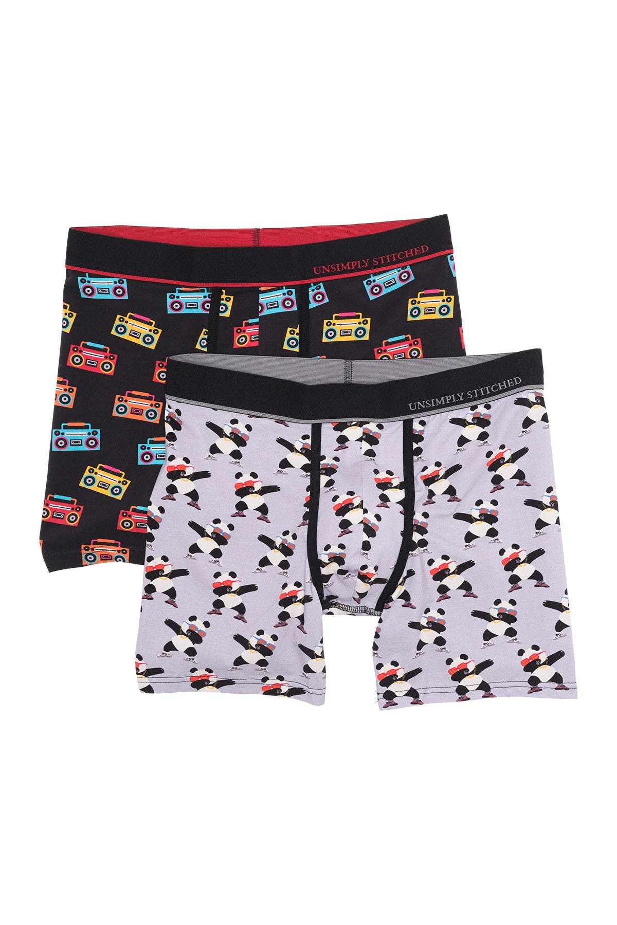 Image of Unsimply Stitched Printed Boxer Briefs - Pack of 2