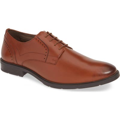 Hush Puppies Advice Plain Toe Derby, Brown