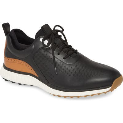 Johnston & Murphy H1 Luxe Hybrid Waterproof Sneaker- Black