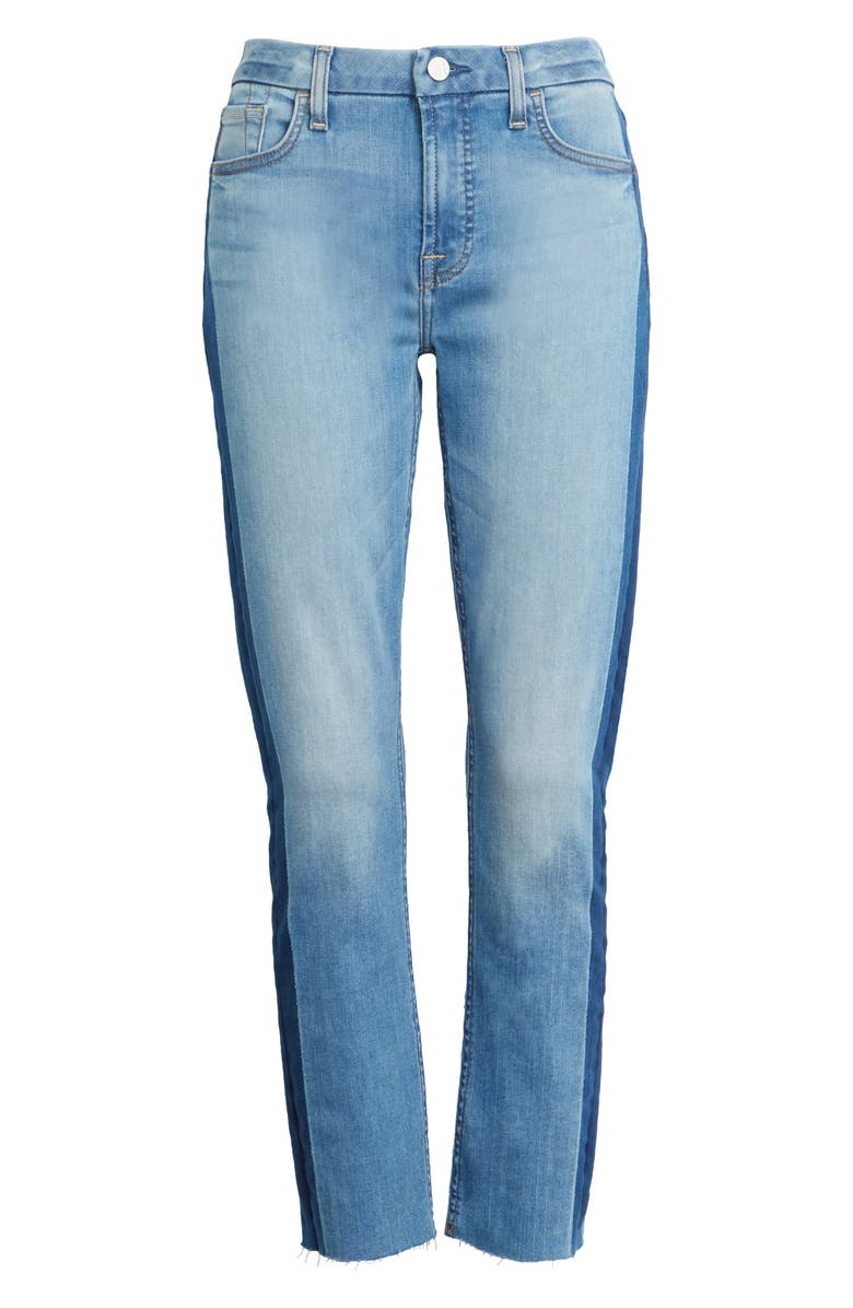 JEN7 BY 7 FOR ALL MANKIND Straight Leg Ankle Jeans, Main, color, LA QUINTA