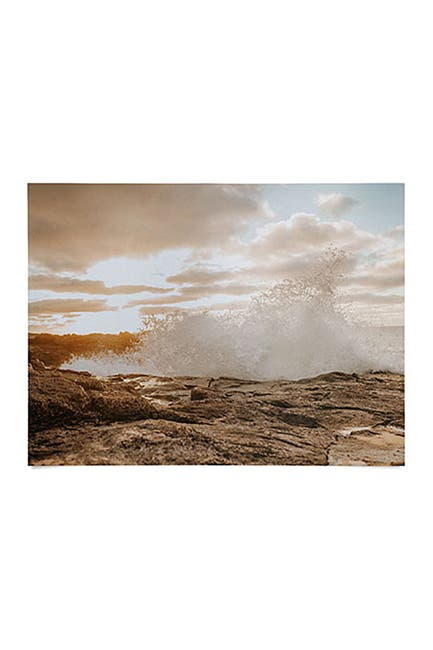 Image of Deny Designs Hello Twiggs Sunset Rough Waves Poster