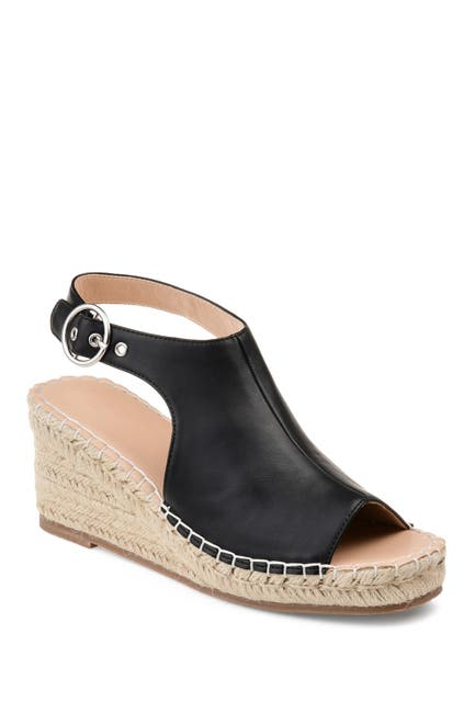 Image of JOURNEE Collection Crew Espadrille Wedge Sandal