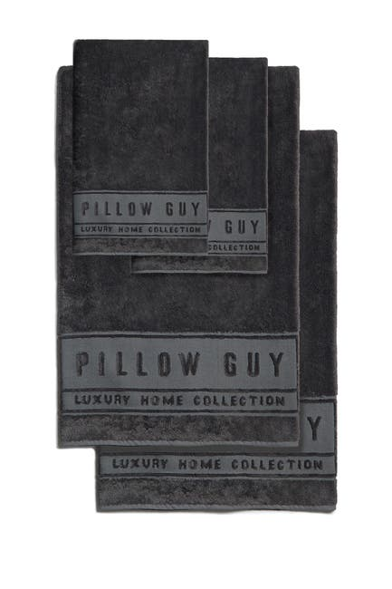 Image of Pillow Guy Charcoal Ultimate Hand & Bath Towel 4-Piece Bundle