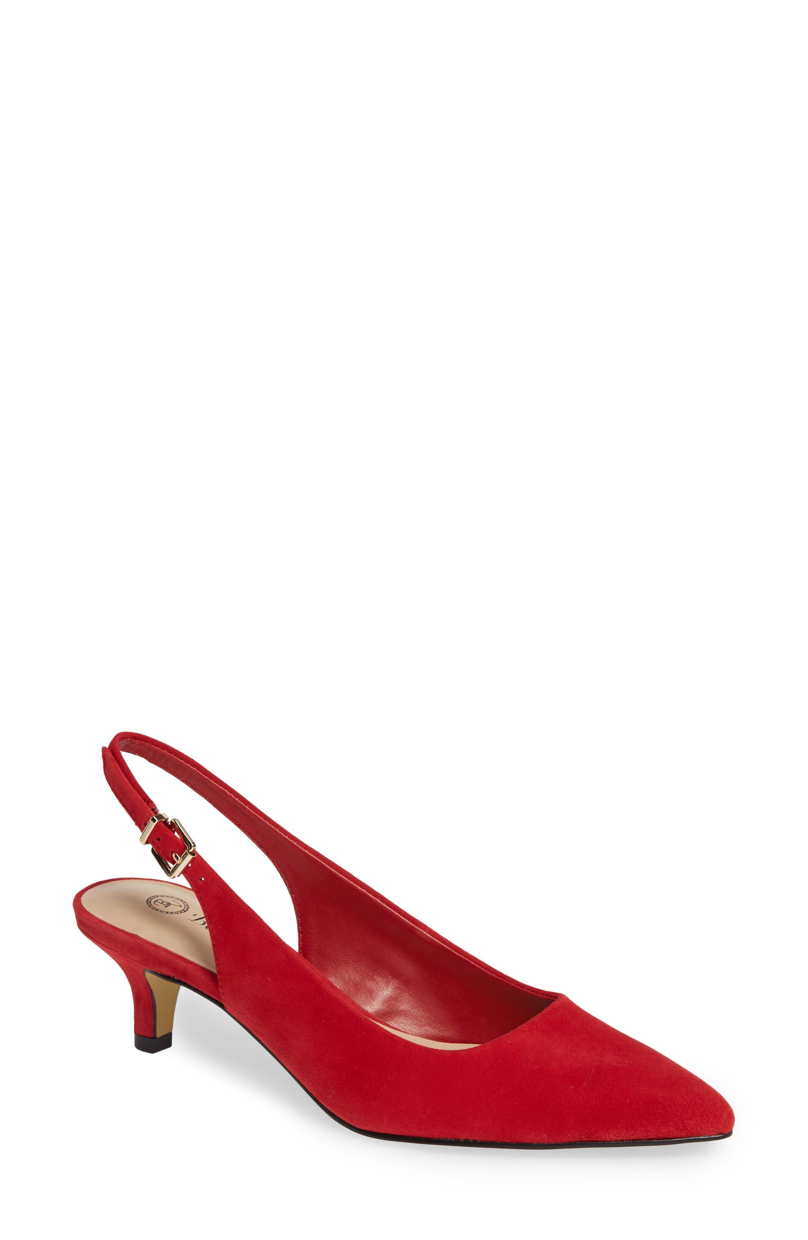 Bella Vita Scarlette Slingback Pump- Red