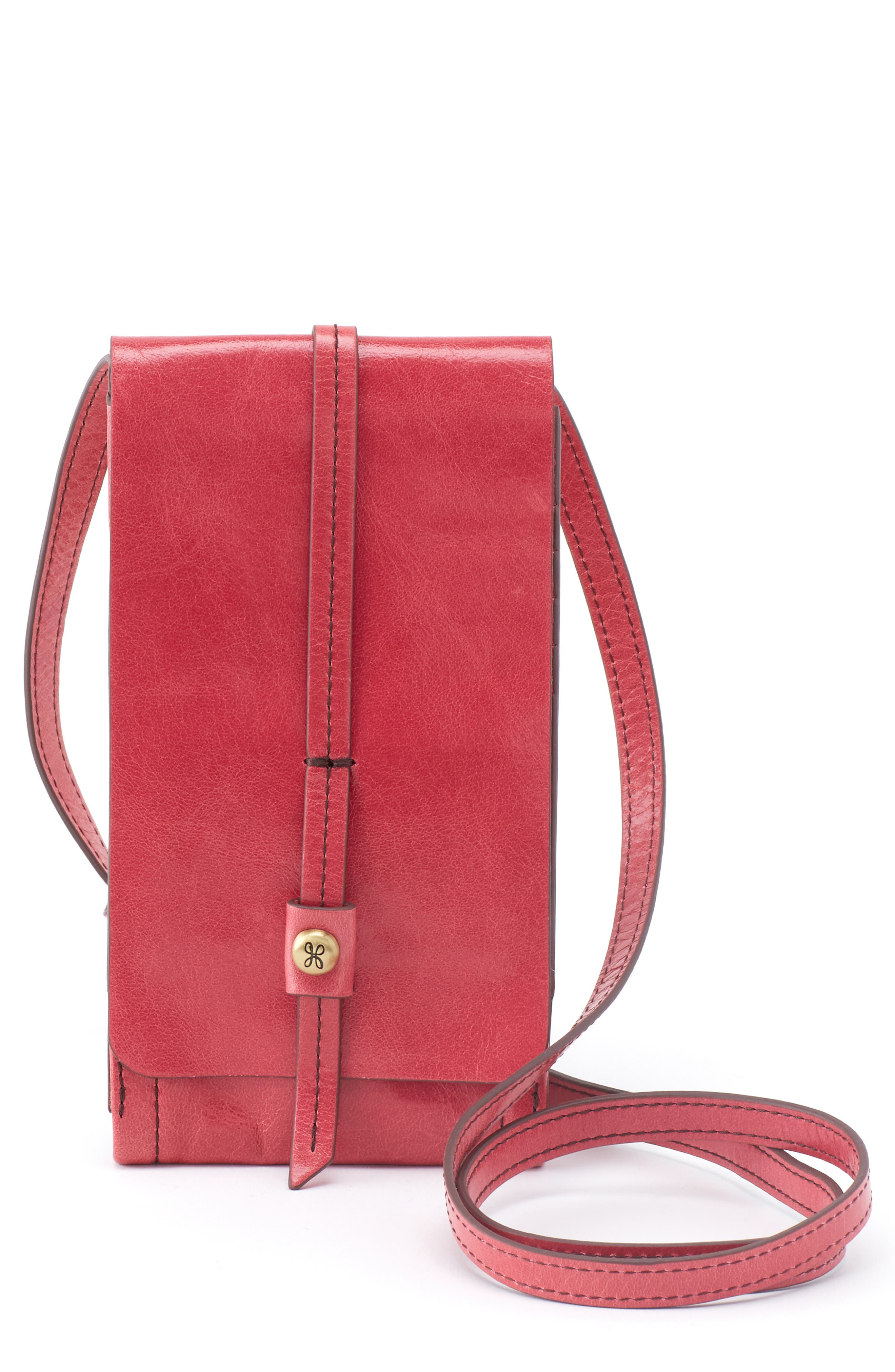 Hobo Token Leather Crossbody Bag