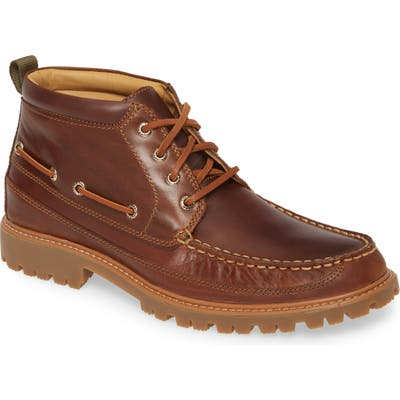 Sperry Gold Authentic Original Moc Toe Boot, Brown