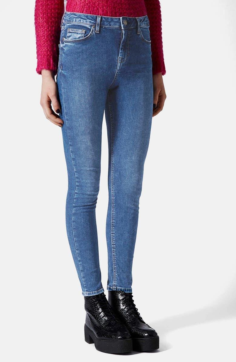 TOPSHOP Moto 'Jamie' Skinny Jeans, Main, color, 400