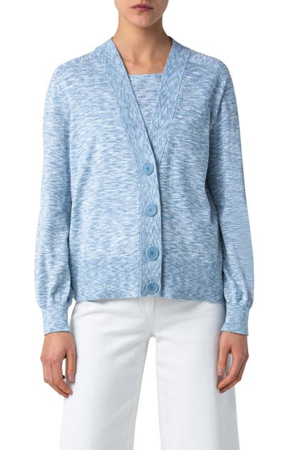Akris Punto Denims COTTON MELANGE CARDIGAN