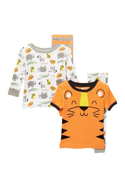 Image of koala baby Tiger Print Cotton Pajama Set - Set of 2