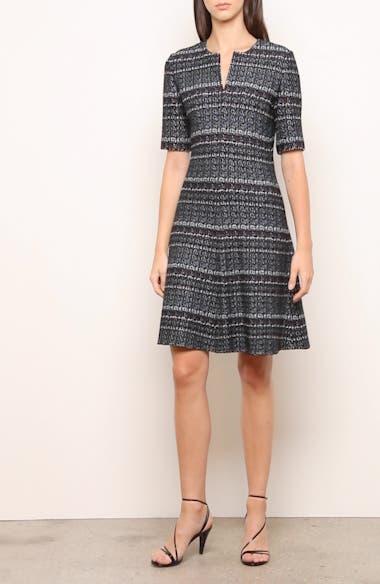 Texture Bouclé Tweed A-Line Dress, video thumbnail