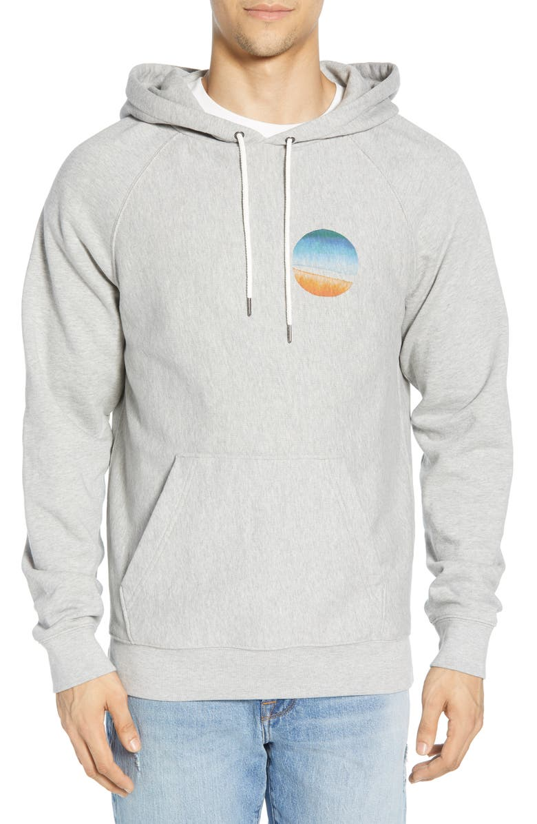 FRAME Sunset Hooded Sweatshirt, Main, color, GRIS