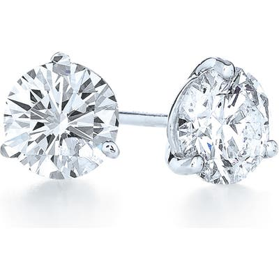 Kwiat 1.07Ct Tw Diamond & Platinum Stud Earrings