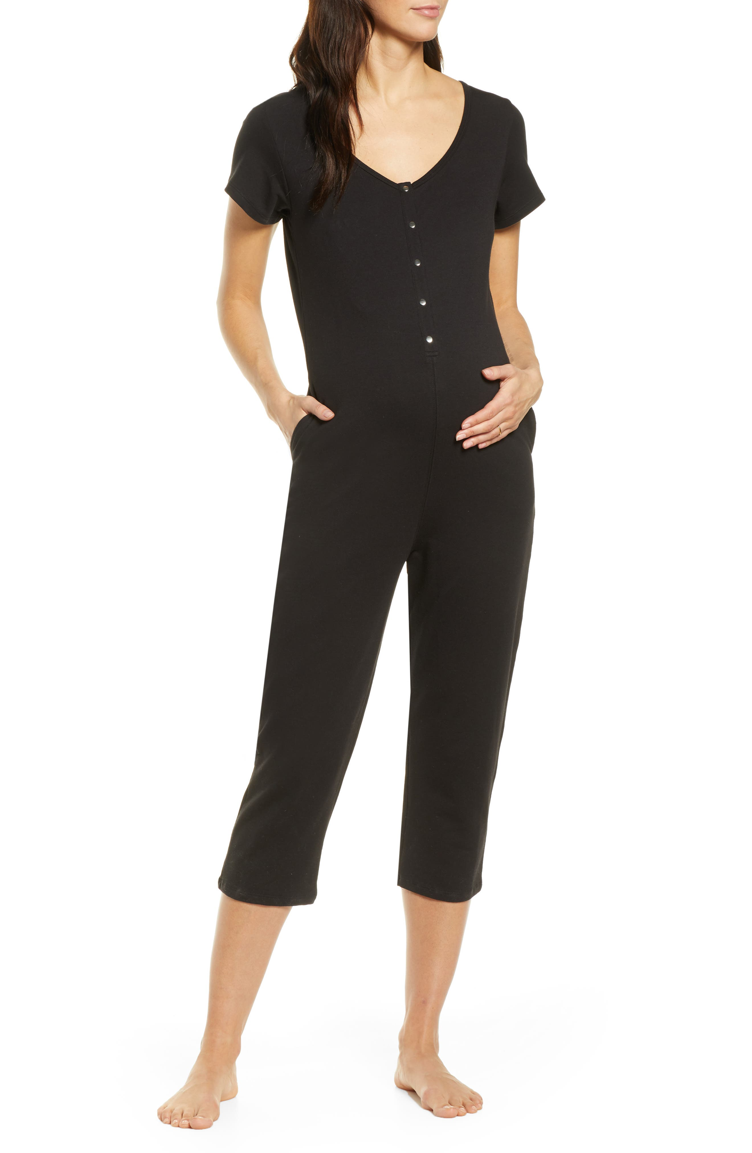 Short Sleeve Nursing/maternity Romper