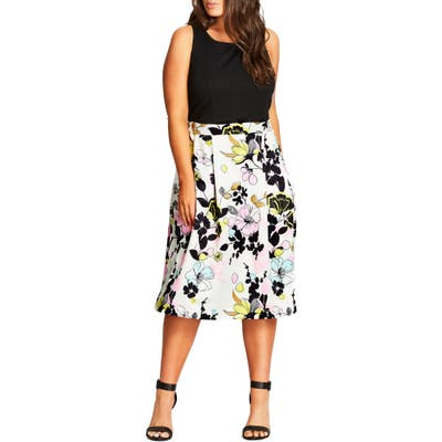 Plus Size City Chic Art Darling Fit & Flare Dress