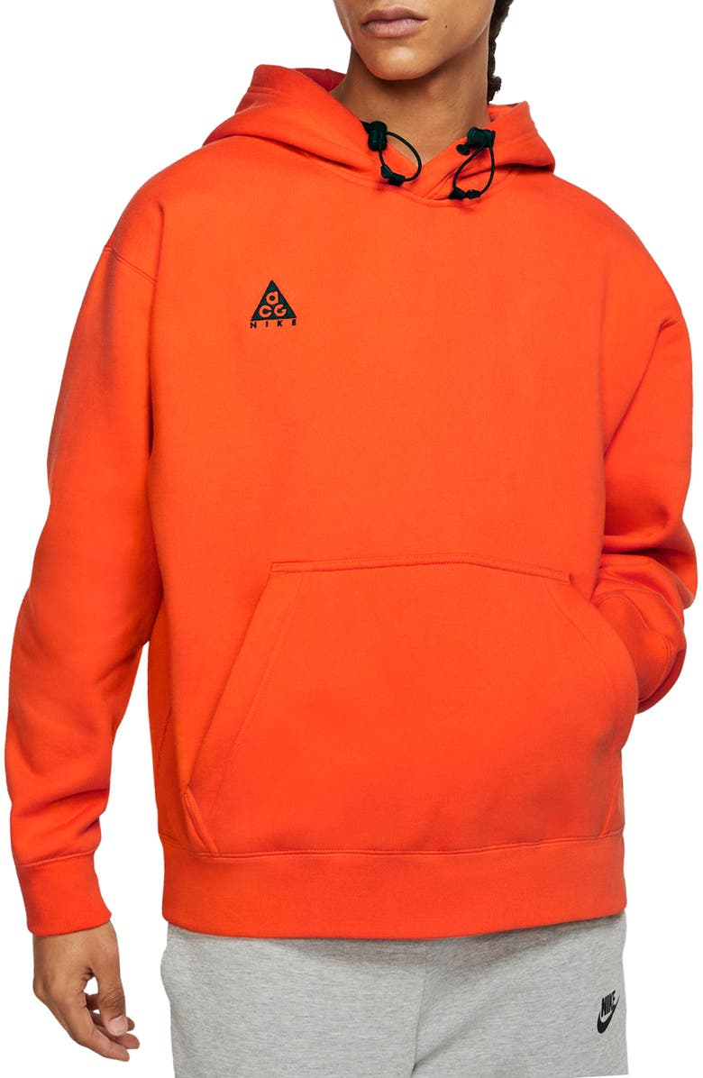 NIKE ACG Men's Pullover Hoodie, Main, color, SAFETY ORANGE