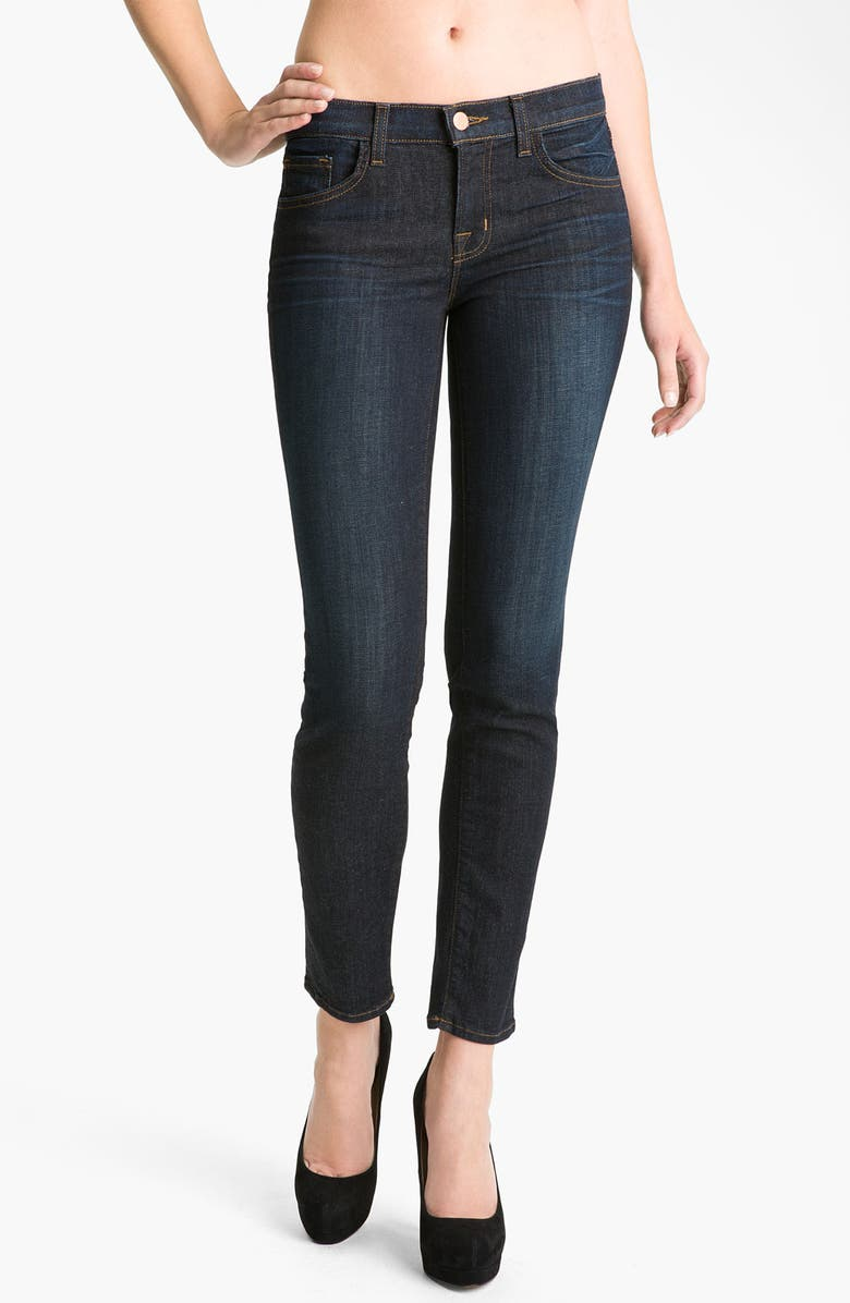 J BRAND Mid-Rise Skinny Jeans, Main, color, 400