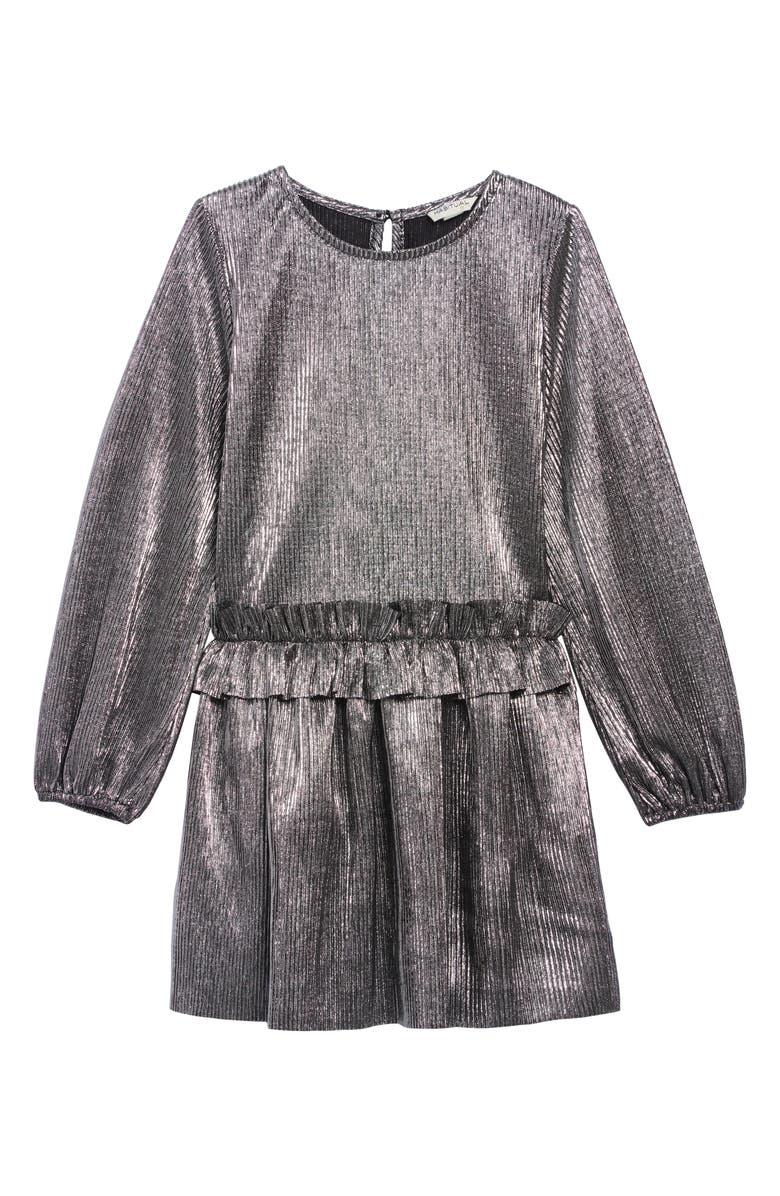 HABITUAL Collette Metallic Dress, Main, color, METALLIC SILVER