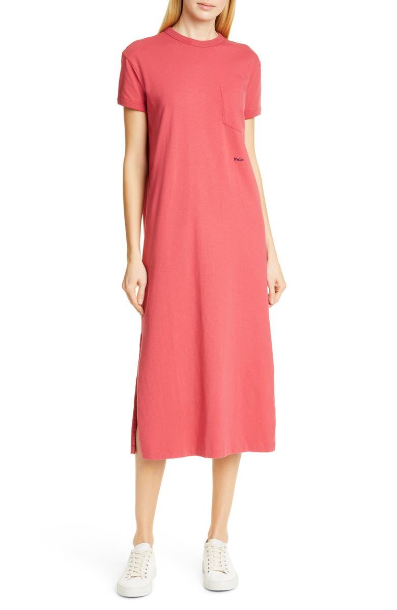 POLO RALPH LAUREN Cotton Pocket T-Shirt Dress, Main, color, 610