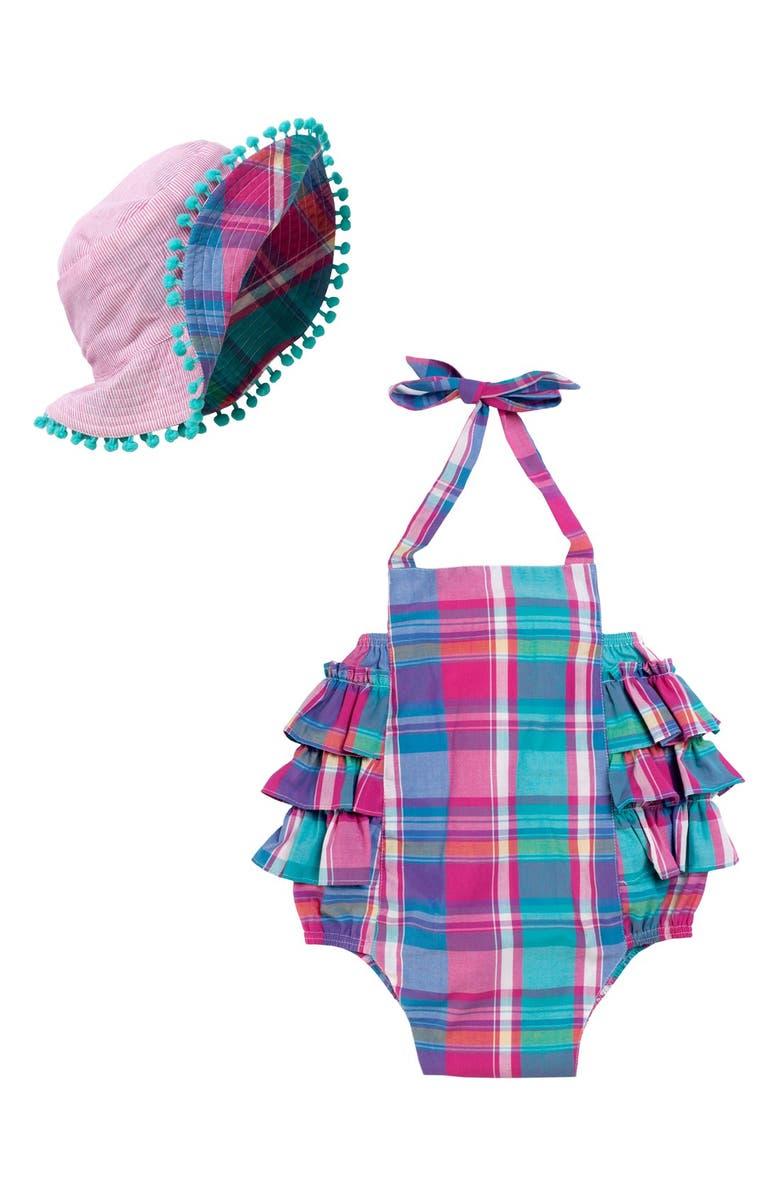 MASALA BABY Masalababy 'Zoe' Cotton Bodysuit & Hat, Main, color, 650
