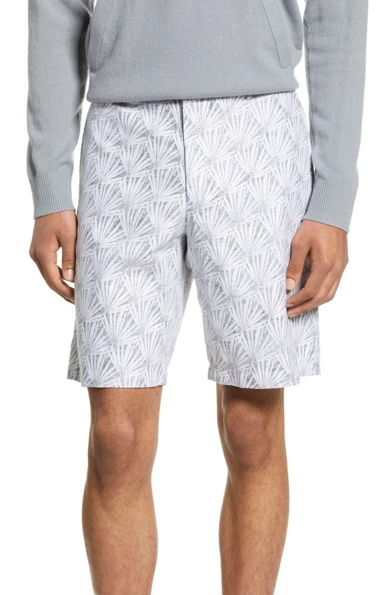 CLUB MONACO Maddox Slim Fit Reverse Palm Shorts, Main, color, 410