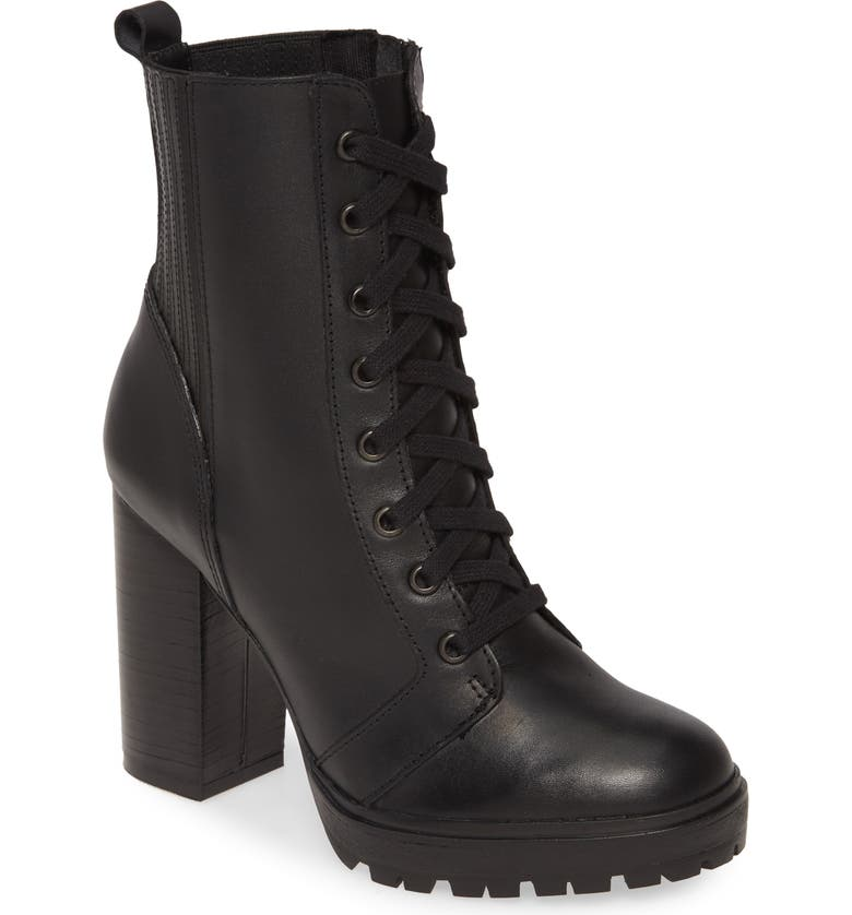STEVE MADDEN Lead Bootie, Main, color, BLACK LEATHER