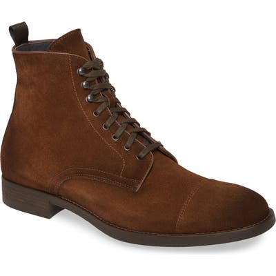 To Boot New York Richmond Cap Toe Lace-Up Boot- Brown