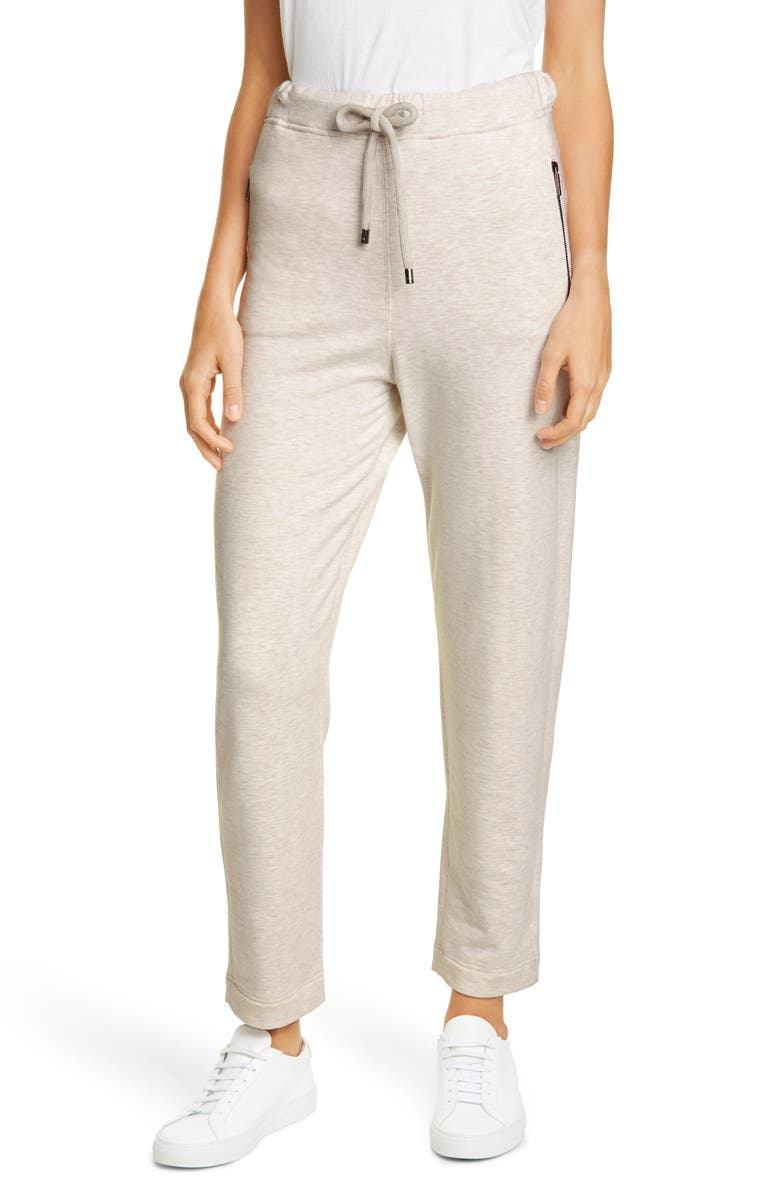 MAX MARA LEISURE Crop Jogger Pants, Main, color, LIGHT