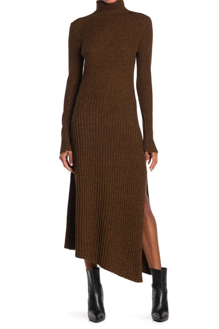 Image of A.L.C. Emmy Wool Blend Turtleneck Midi Dress