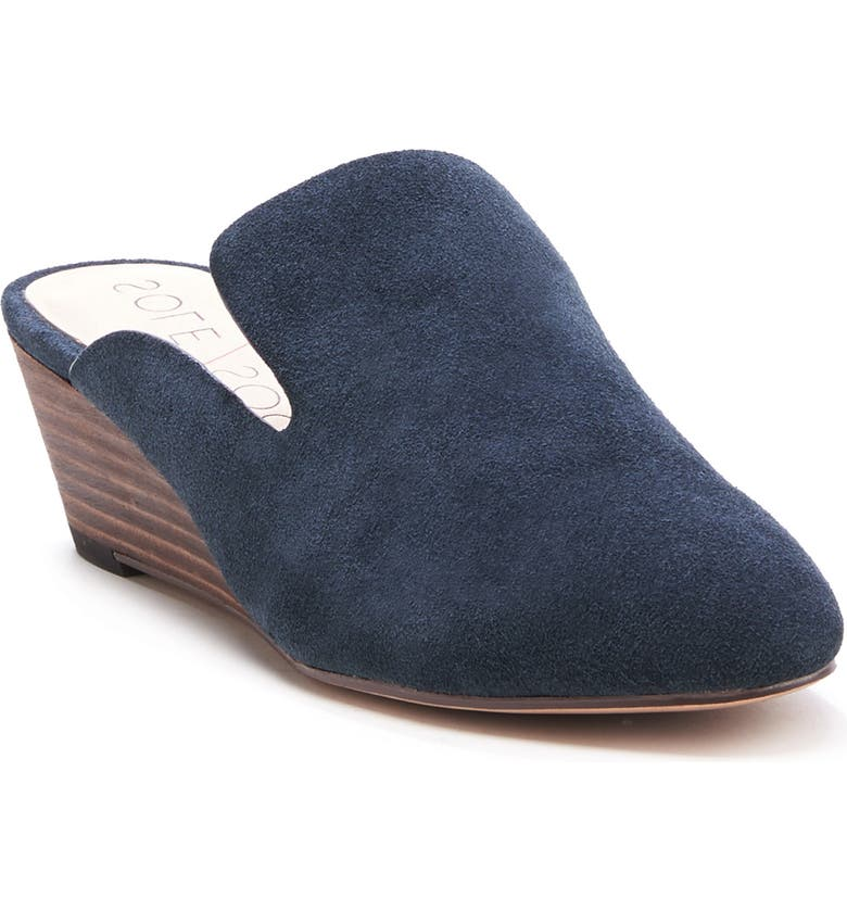 SOLE SOCIETY Alessa Wedge Mule, Main, color, INK LEATHER