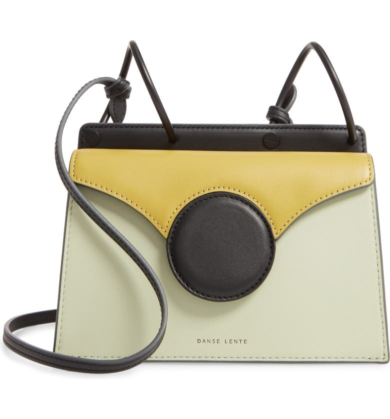 DANSE LENTE Mini Phoebe Leather Bag, Main, color, MINT/ OLIVE
