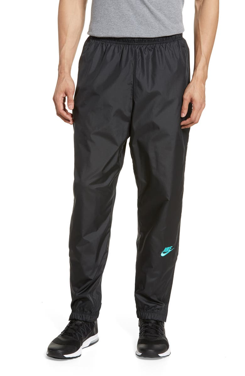 NIKE x atmos Men's Track Pants, Main, color, BLACK/ HYPER JADE
