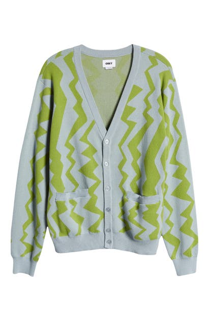 Obey Cottons STATIC PATTERNED CARDIGAN