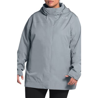 Plus Size The North Face Westoak City Waterproof & Windproof Coat, Grey