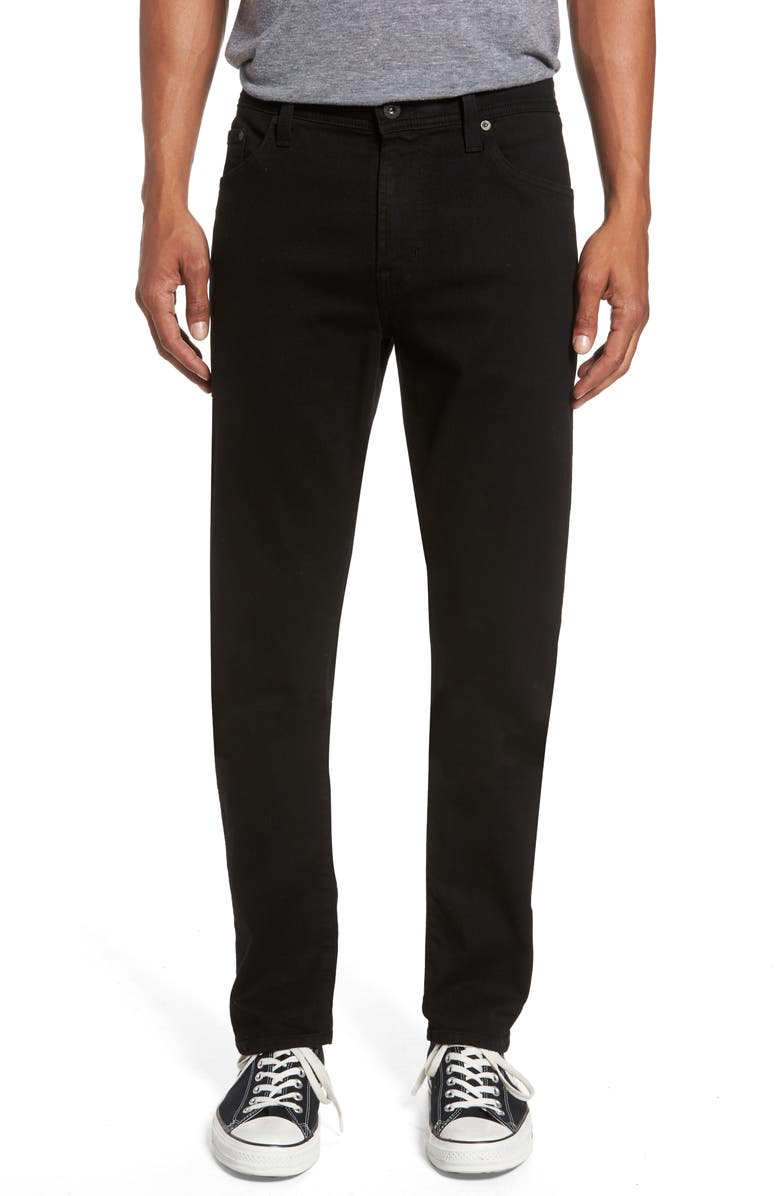 AG Everett Slim Straight Leg Jeans, Main, color, BLACK SOOT