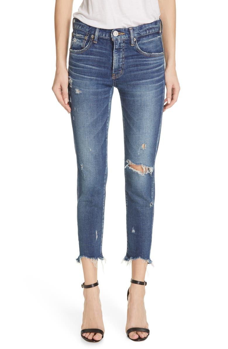MOUSSY VINTAGE Glendele Ripped Ankle Skinny Jeans, Main, color, 400