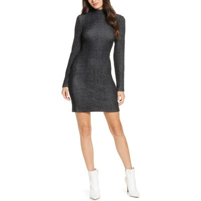 French Connection Petra Long Sleeve Knit Dress, Black