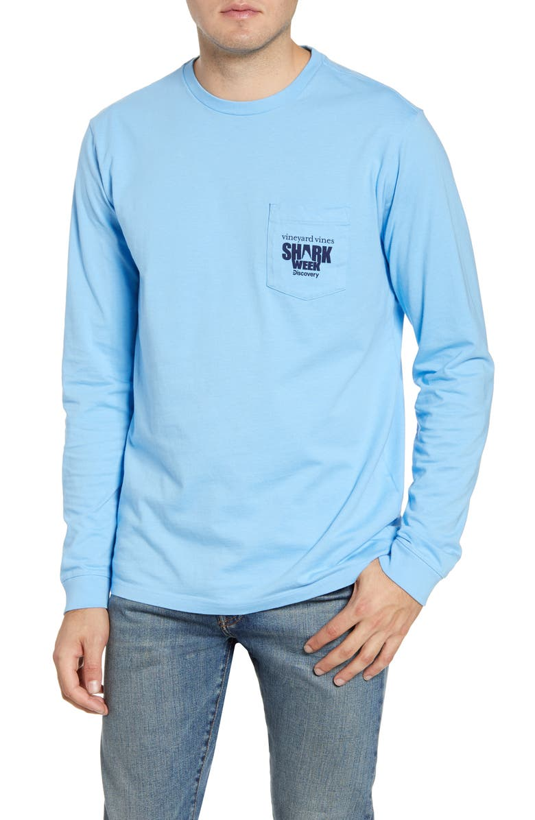 X Shark Week™ Hammerhead Long Sleeve Pocket T Shirt by Vineyard Vines