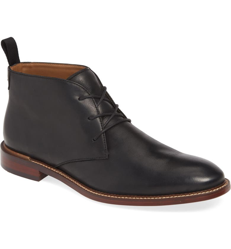 NORDSTROM MEN'S SHOP Chase Chukka Boot, Main, color, BLACK LEATHER