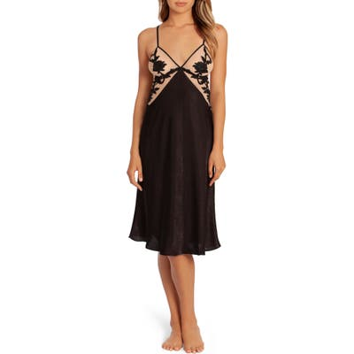 In Bloom By Jonquil Wildest Dreams Nightgown, Black