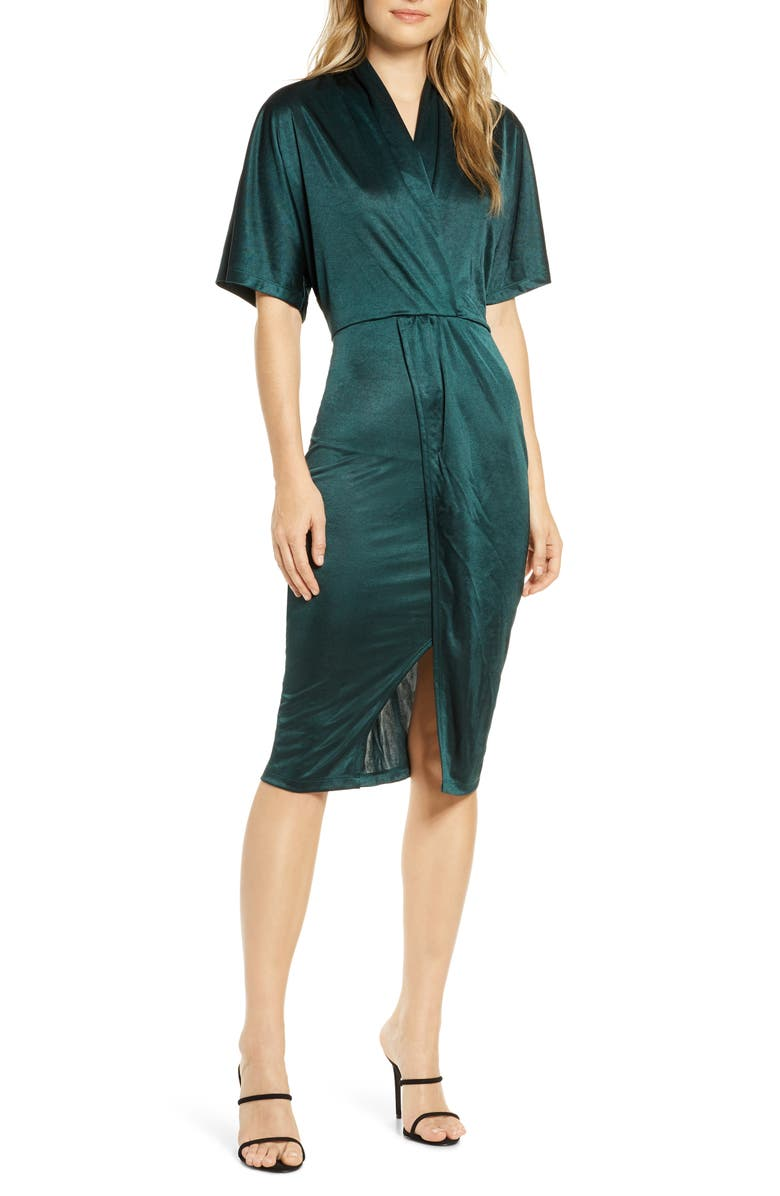 LEOTA Willow Faux Wrap Dress, Main, color, LUSTER JERSEY