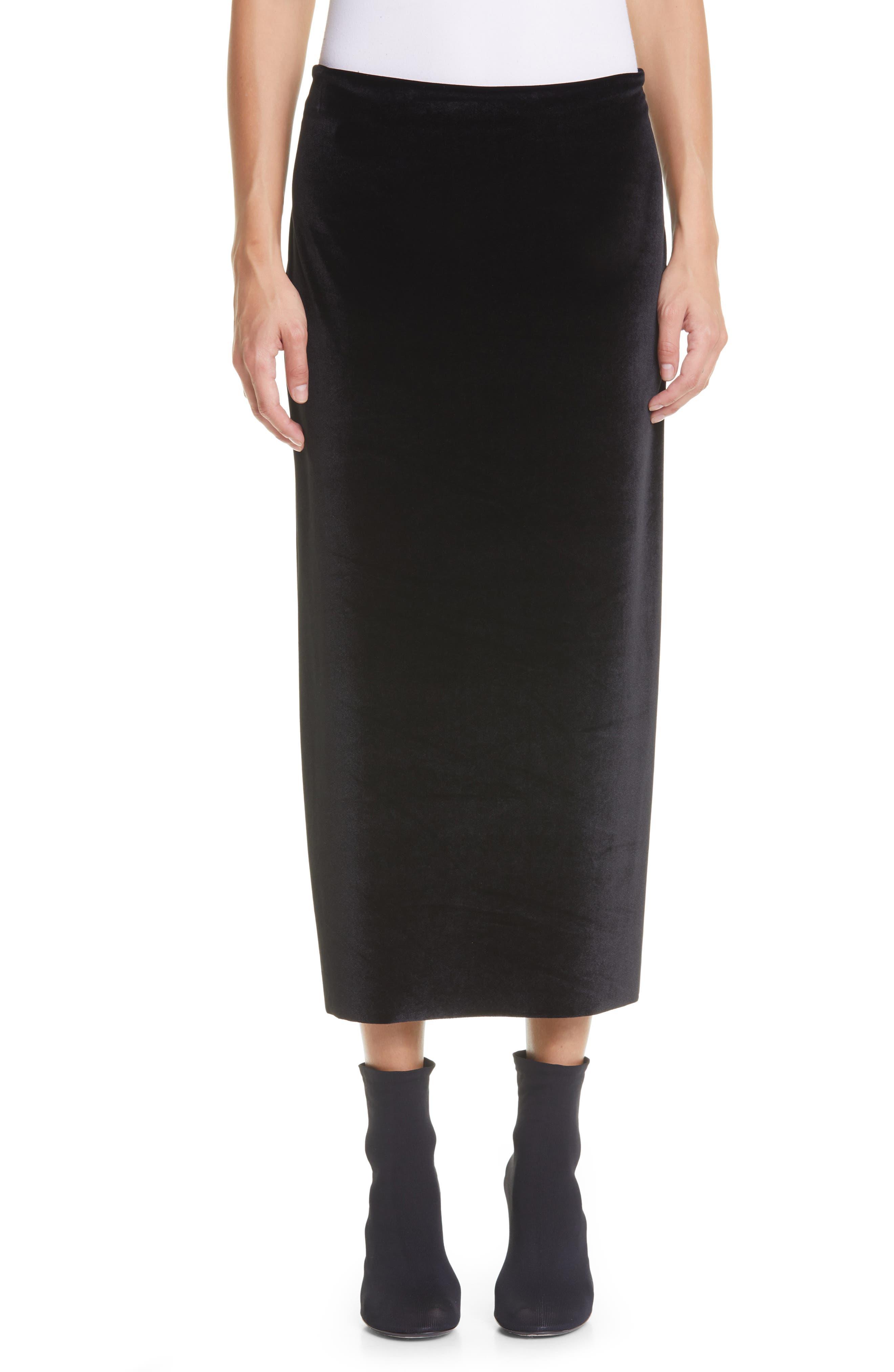 Kathryn Bowen Velour Midi Skirt