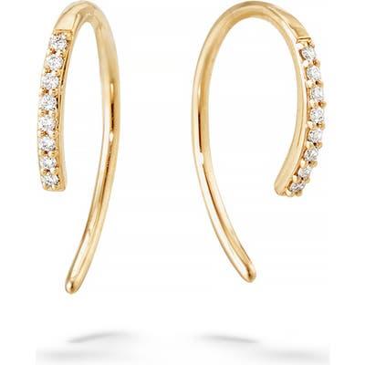 Lana Jewelry Hooked On Diamond Hoop Earrings