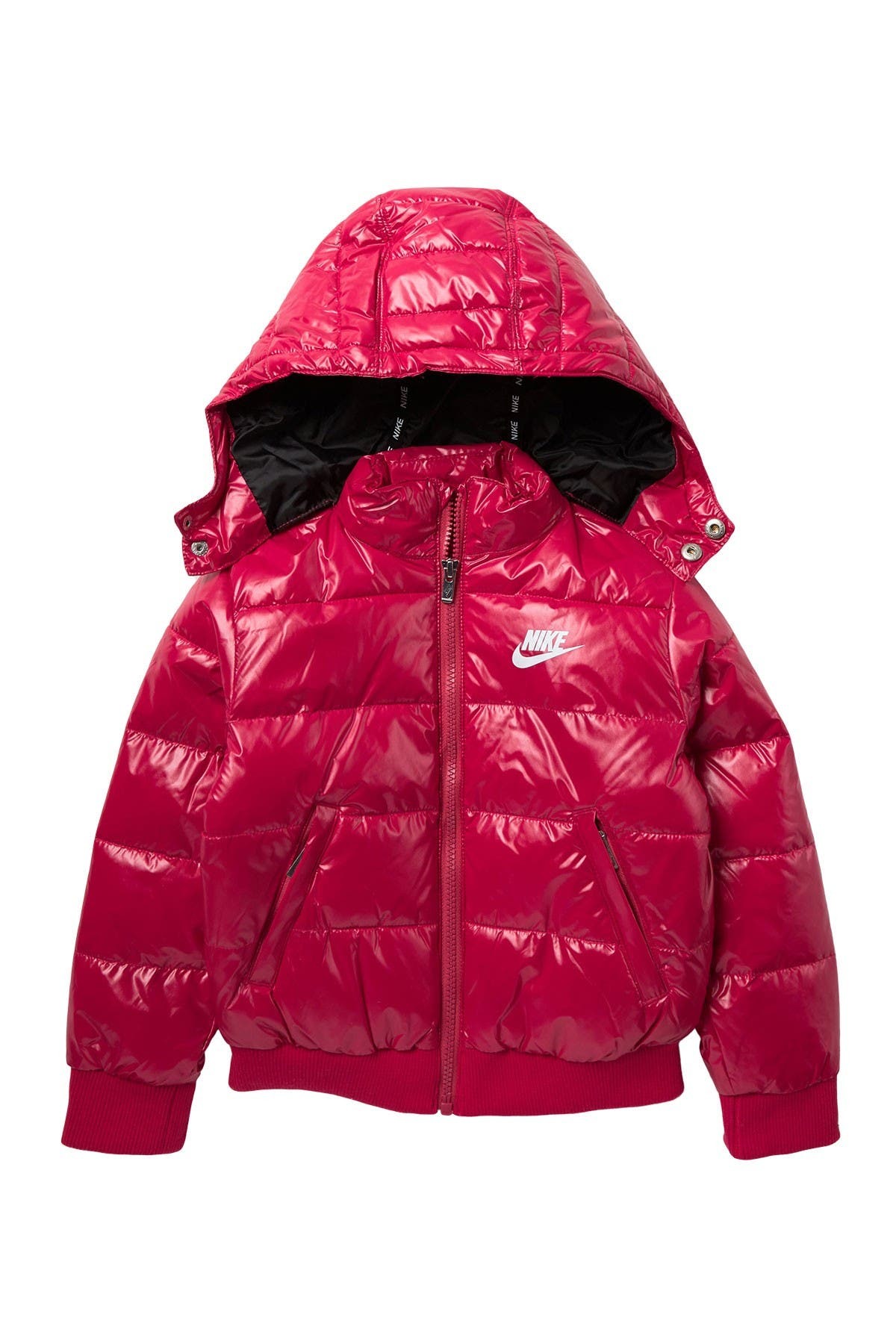 Image of Nike Quilted Puffer Hooded Jacket