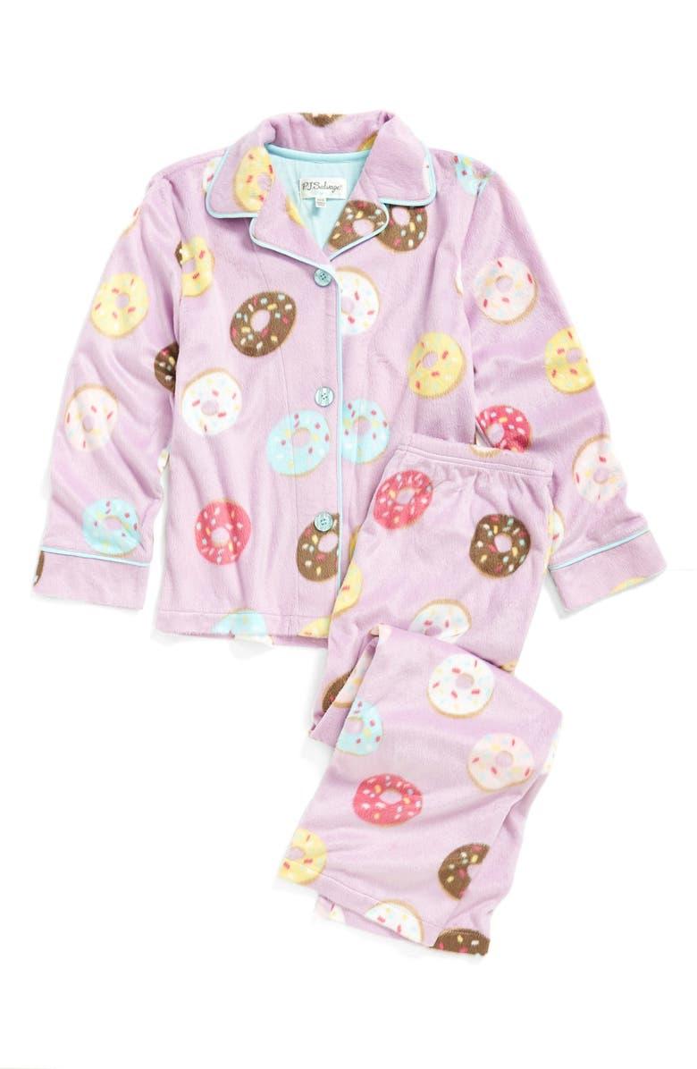 PJ SALVAGE 'Donut' Two-Piece Pajamas, Main, color, 510