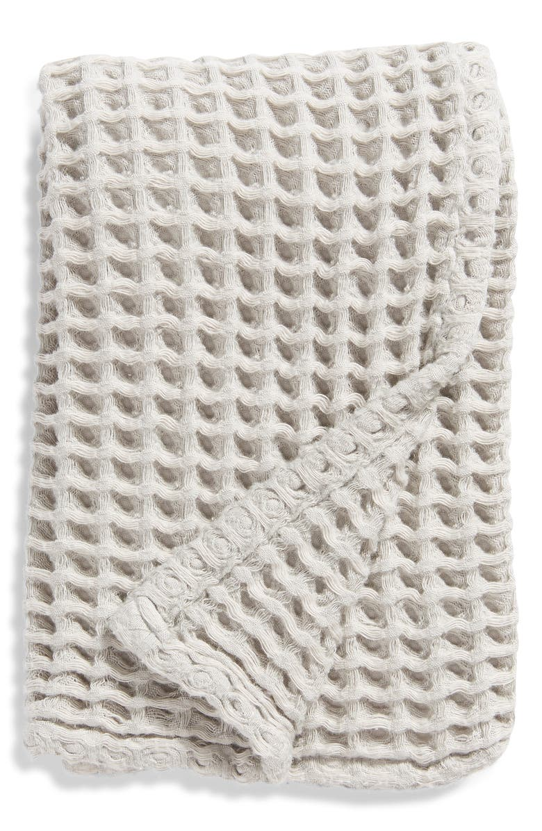 NORDSTROM Waffle Hand Towel, Main, color, GREY VAPOR