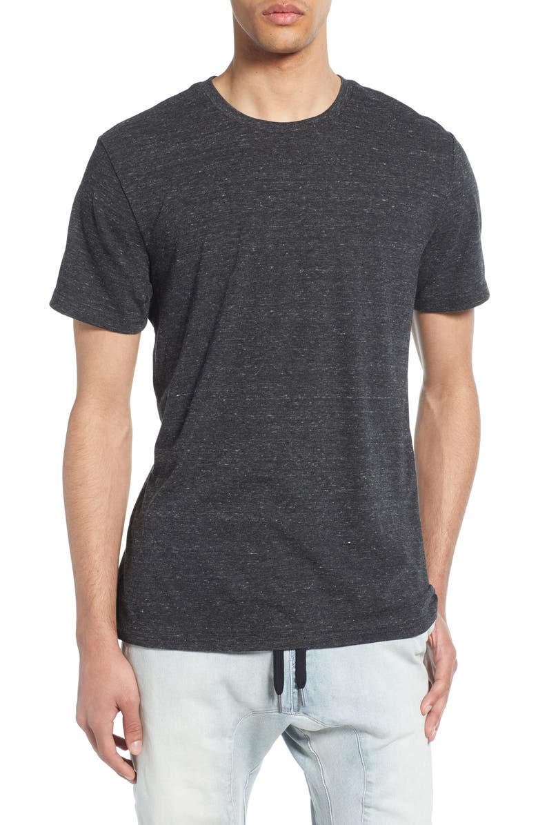 THE RAIL Slim Fit Crewneck T-Shirt, Main, color, DARK CHARCOAL HEATHER